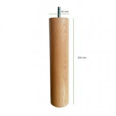 Loose Wooden Boxspring Legs 25 cm oak