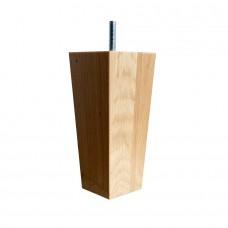 Loose Wooden Boxspring Legs set black 15 cm set of 6