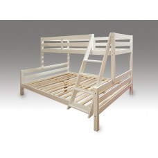 Solid wood triple bunk bed